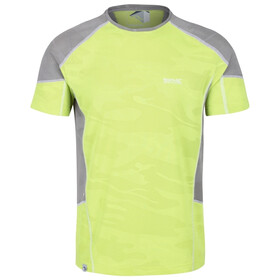 Regatta Camito Camiseta Hombre, electric lime/rock grey